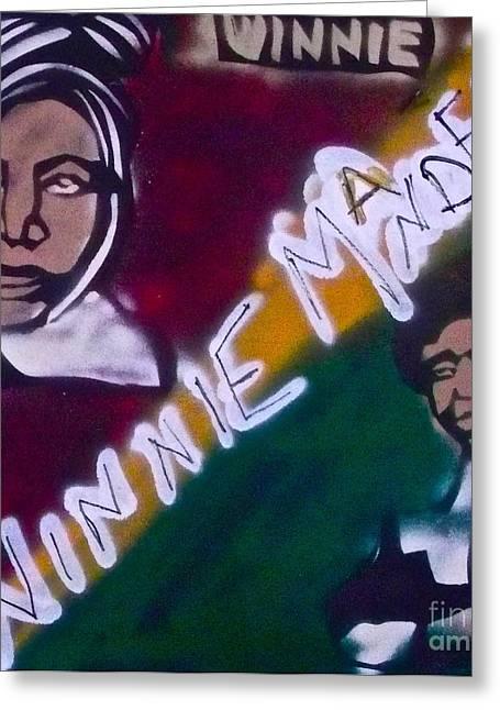 Winnie Mandela Greeting Card by Tony B Conscious