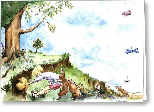 Helping Hands After E H Shepard Greeting Card