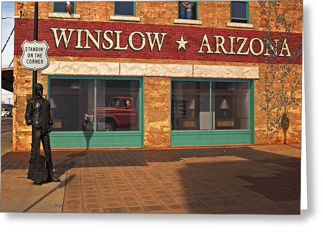 Greeting Card featuring the photograph Winslow Arizona by Bob Pardue