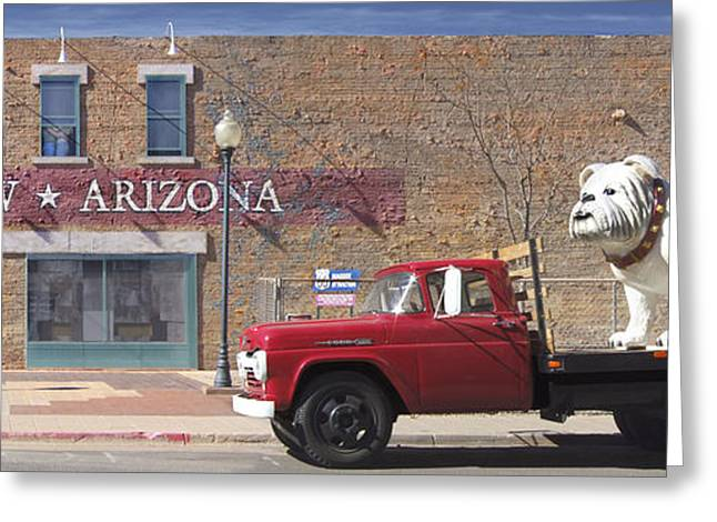 Winslow Arizona Greeting Card by Mike McGlothlen