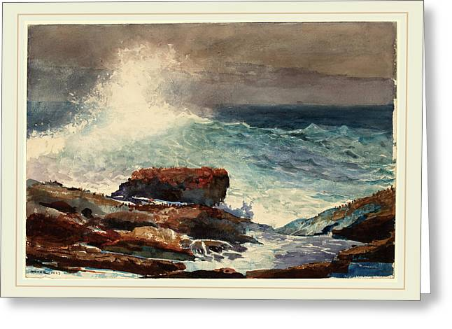 Winslow Homer American, 1836-1910, Incoming Tide Greeting Card