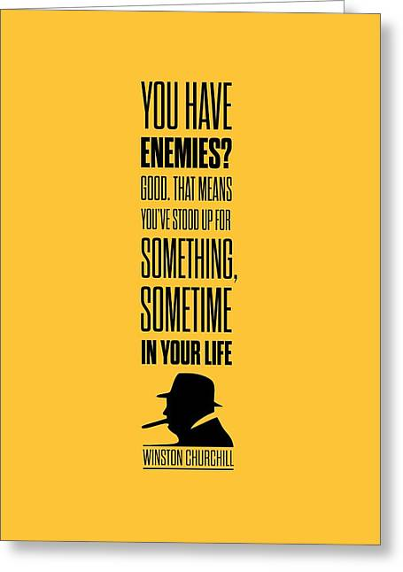 Winston Churchill Inspirational Quotes Poster Greeting Card