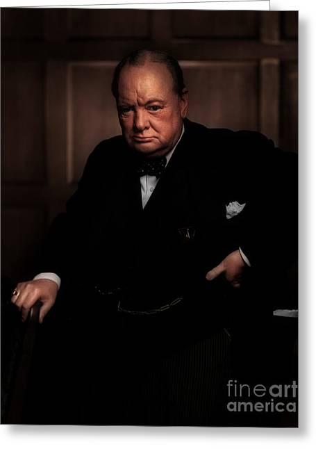 Winston Churchill Greeting Card by Doc Braham