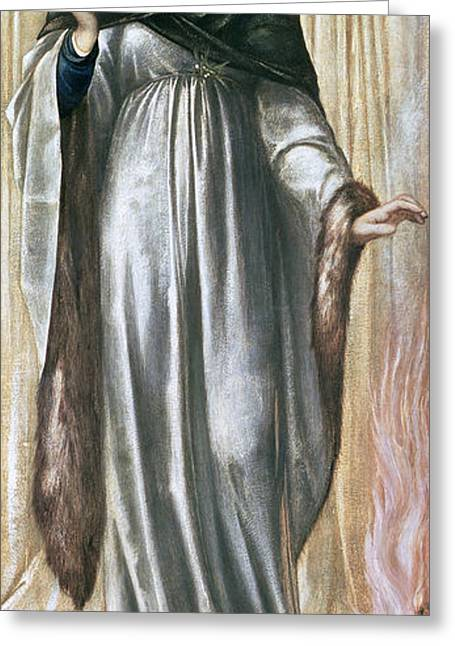 Winter, 1869-70 Gouache On Paper Greeting Card by Sir Edward Coley Burne-Jones