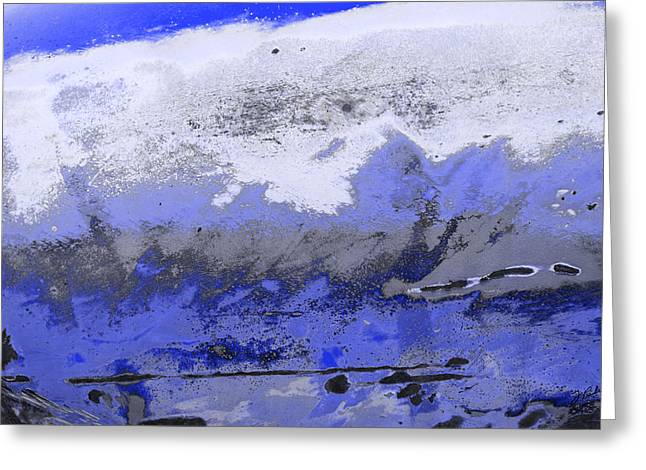 Winter Abstract Greeting Card by Fran Riley