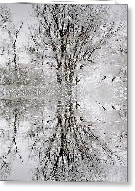 Winter Abstract Greeting Card