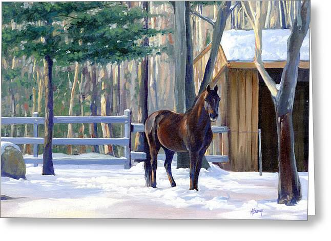 Winter Afternoon Greeting Card by Alecia Underhill