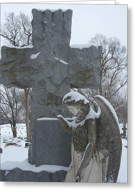 Winter Angel Greeting Card