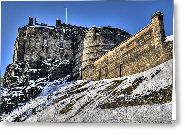 Winter At Edinburgh Castle Greeting Card