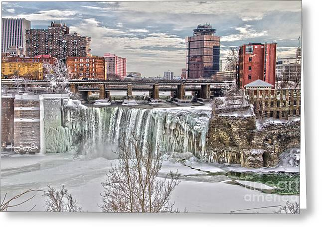 Winter At High Falls Greeting Card
