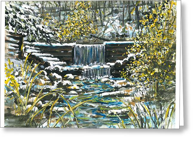 Winter At Iargo Springs Greeting Card by Robin  Pelton
