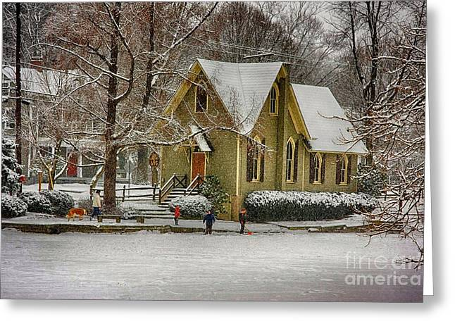 Winter At Lake Afton Greeting Card