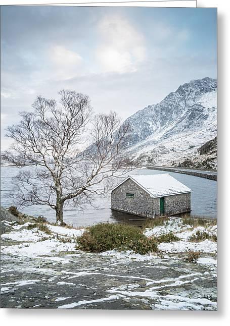 Winter At Llyn Ogwen Greeting Card by Christine Smart