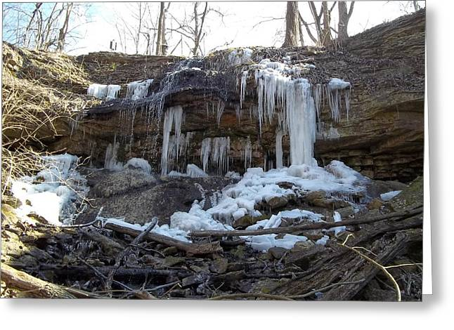 Winter At Martindale Falls Greeting Card by Eric Switzer