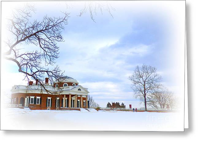 Winter At Monticello Greeting Card
