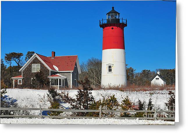 Winter At Nauset Greeting Card by Catherine Reusch  Daley