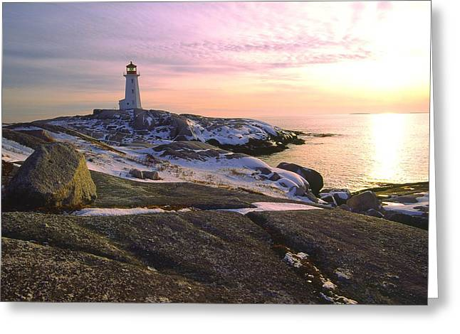 Winter At Peggy's Cove Greeting Card