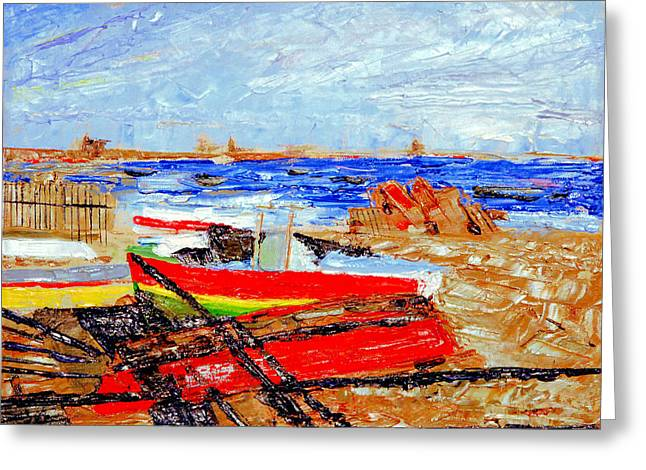 Winter At Provincetown Greeting Card by Michael Daniels