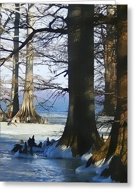 Winter At Reelfoot Lake Greeting Card