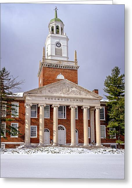 Winter At Rockwell Hall Greeting Card