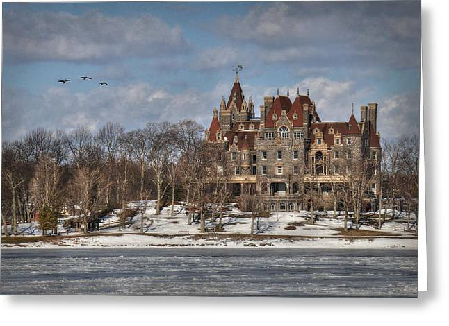 Winter At The Castle Greeting Card