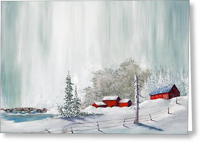 Winter At The Lake Greeting Card
