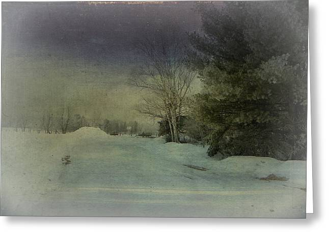 Winter Atmosphere  Greeting Card by Dianne  Lacourciere
