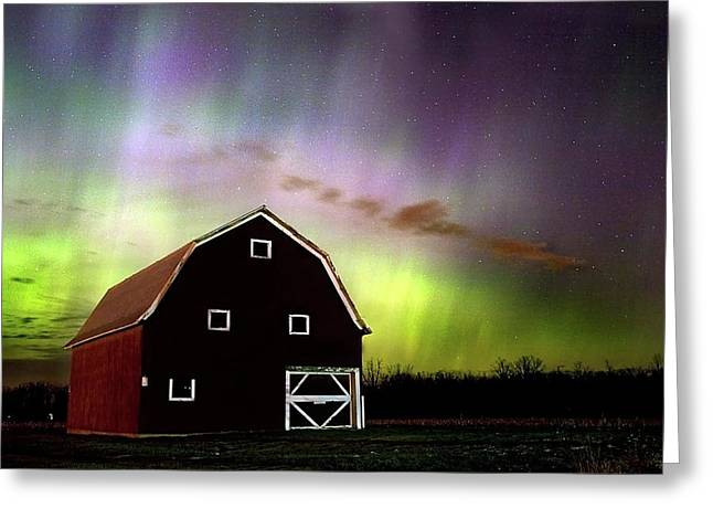 Winter Aurora Greeting Card