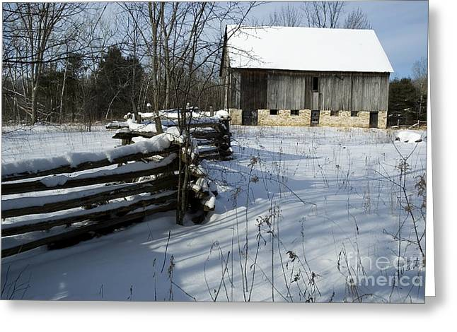 Winter Barn I Greeting Card by Jessie Parker