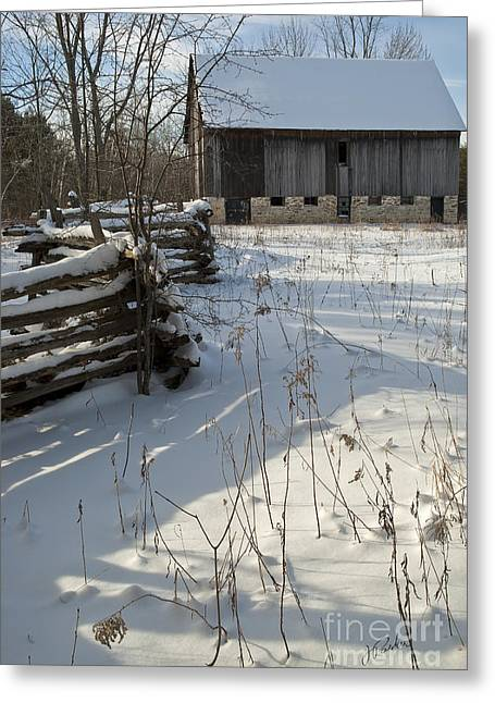 Winter Barn II Greeting Card by Jessie Parker