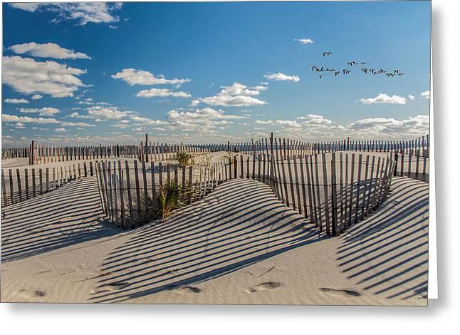 Winter Beach 9528 Greeting Card