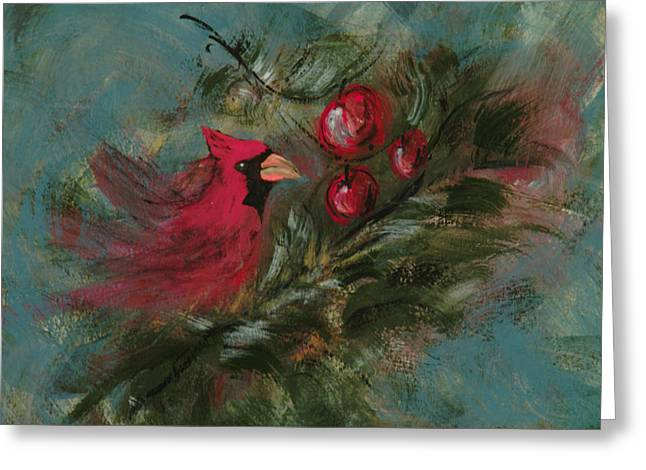 Winter Berries Greeting Card by Lee Beuther