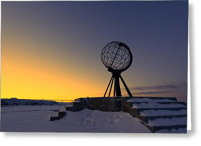 Winter Beyond The Arctic Circle Greeting Card by Ulrich Schade