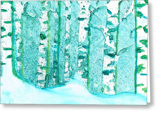 Winter Birch 2 Greeting Card