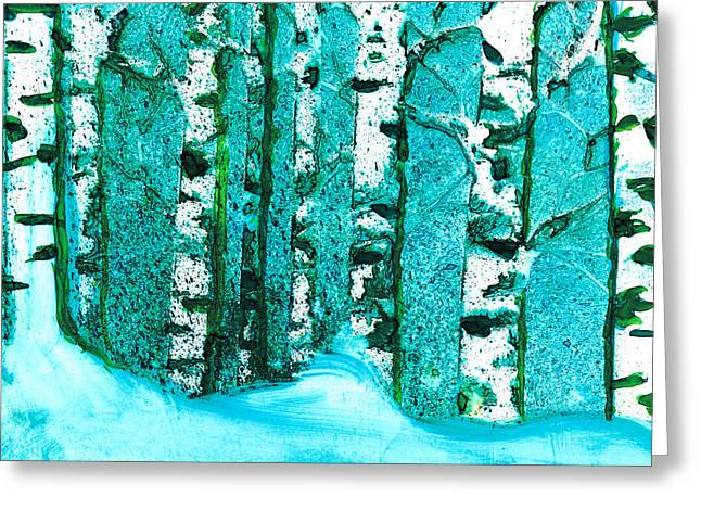 Winter Birch Greeting Card