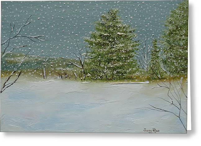 Winter Blanket Greeting Card by Judith Rhue