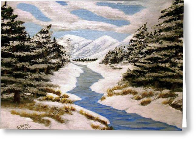 Winter Bliss Greeting Card by Sheri Keith