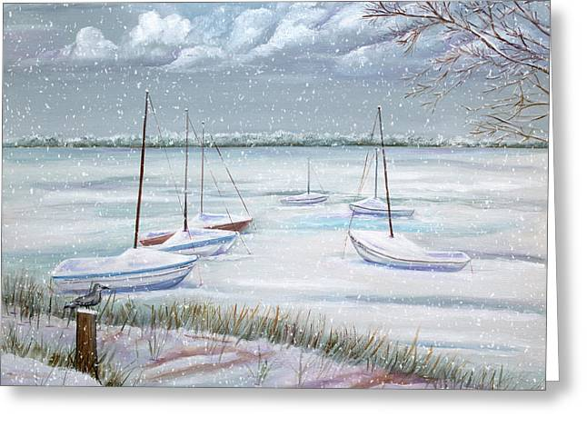 Winter Blue Greeting Card by Dorothy Riley