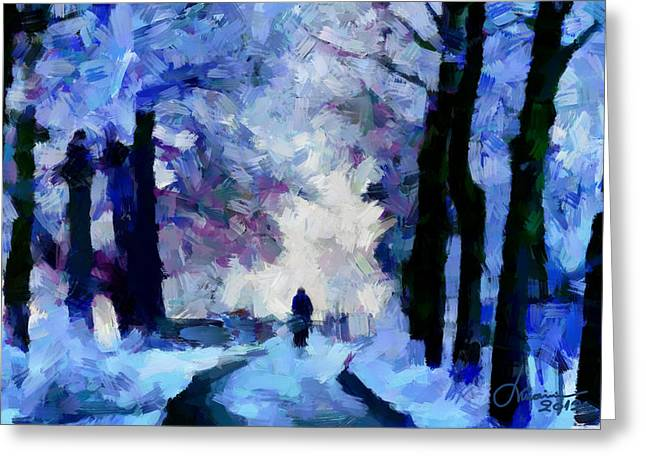 Winter Blues Tnm Greeting Card by Vincent DiNovici