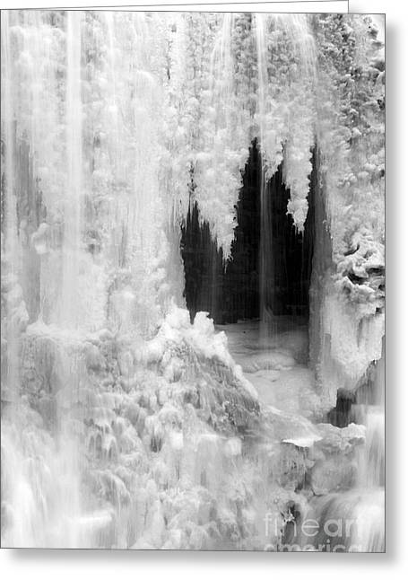 Winter Cave Greeting Card