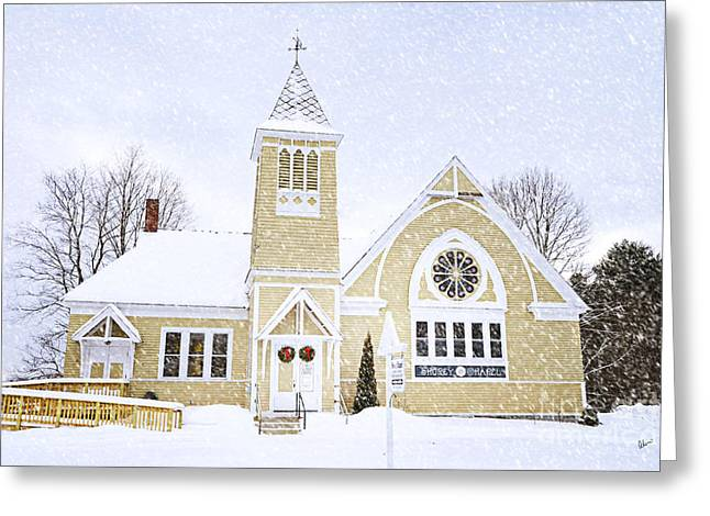 Winter Chapel Greeting Card