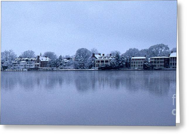 Winter Chestertown Waterfront Greeting Card
