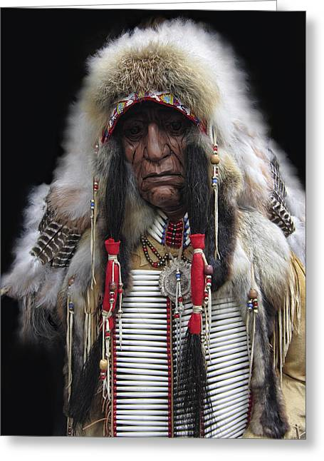 Winter Chief Greeting Card by Daniel Hagerman