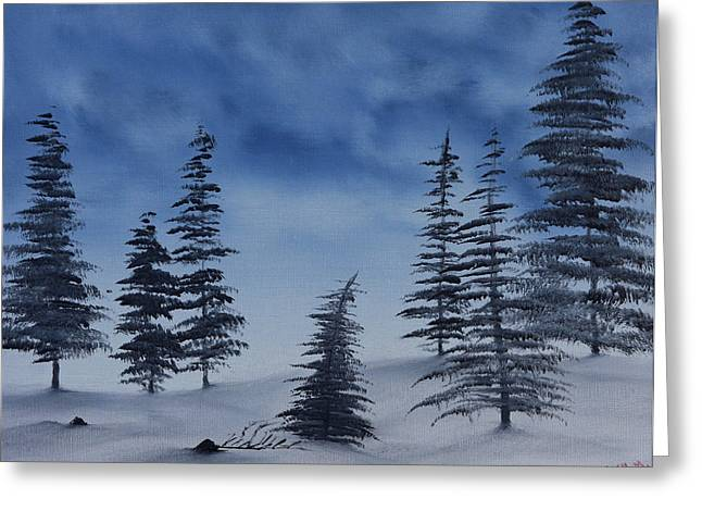 Greeting Card featuring the painting Winter Chill by Jennifer Muller