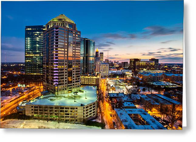 Winter City Wonderland Greeting Card by Scott Moore