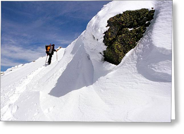 Winter Climb On Mount Lafayette Greeting Card