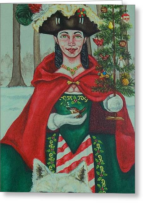 Winter Colonial Greeting Card by Beth Clark-McDonal
