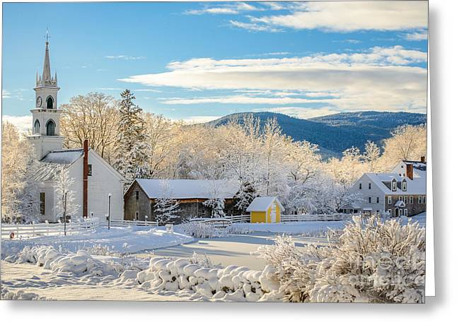 Winter Colors In Tamworth N H Greeting Card