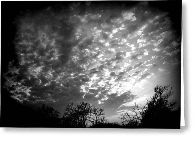 Winter Cool Front Sunset Greeting Card by James Granberry