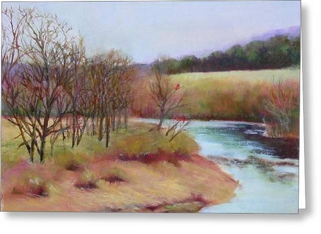 Winter Creek                  Copyrighted Greeting Card by Kathleen Hoekstra